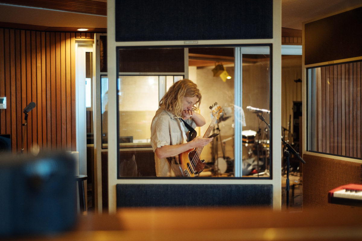 Parcels Bassist in studio